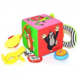 Textilná multi kocka Krtko