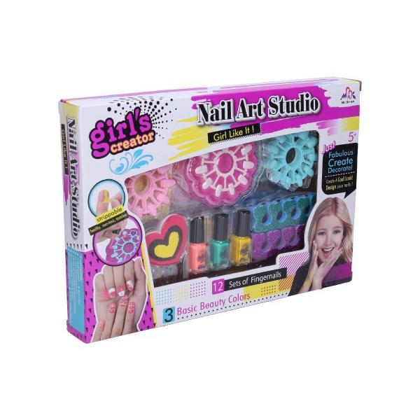 Nehtové studio plast sada na nehty v krabici