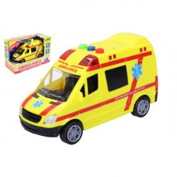 Sanitariusze pogotowia samochodowego z tworzywa sztucznego 14,5 cm na akumulatorze ze światłem i dźwiękiem