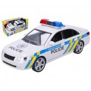Policja samochod plastikowy bateria 24 cm z dźwiękiem i światłem