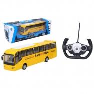 Autobus RC plast 28 cm na dálkové ovládání + bateriový pack se světlem