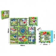 Puzzle piankowe Miasto 9 szt. 32x32cm
