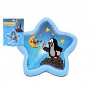 Lampička Krtek na zavěšení plast hvězda 15cm na kartě