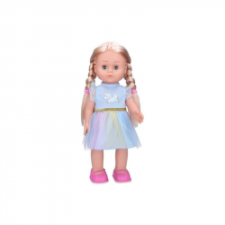 Panenka Eliška chodící 41cm modré šaty