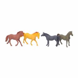 zestaw koni 4 szt .; 14 cm