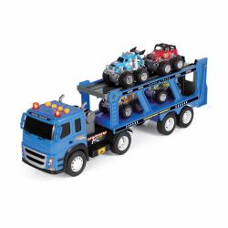 Ciągnik z samochodami i efektami 46 cm