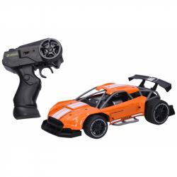 Auto RC kovové 21 cm - oranžová farba