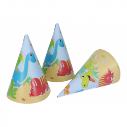 Párty kloboučky Dino 6ks