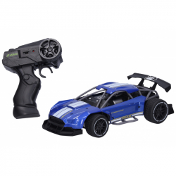 Auto RC kovové 21 cm - modrá farba