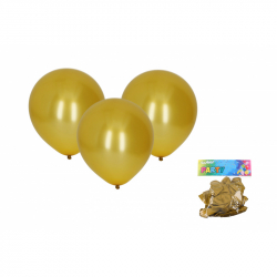 Balónik nafukovacie 30cm - sada 10ks, metalický zlatý