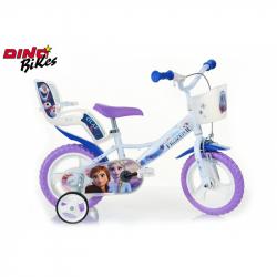 Dino Bikes Detský bicykel so sedačkou pre bábiku a košíkom Frozen 2