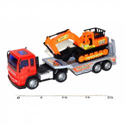 Ciągnik z maszyną budowlaną 28 cm