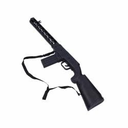 puška, 2 ast (hnedá, čierna)