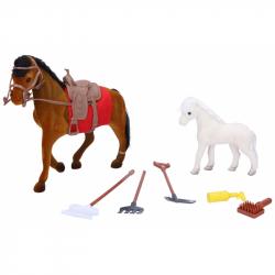 Kůň s hříbětem set (kůň, hříbě, nářadí)