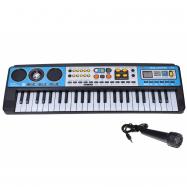 Elektronické klávesy s mikrofonem a rádiem