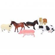 Zwierzęta hodowlane 6 szt., 9 cm