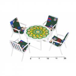 Krzesła + stolik kawowy