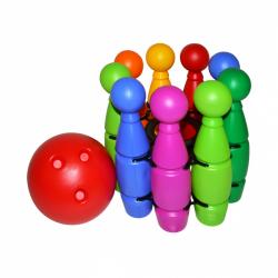 Kręgle w siatce + piłki