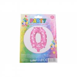 nafukovací balónik - číslo 0 holky