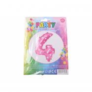 nafukovací balónik - číslo 4 holky