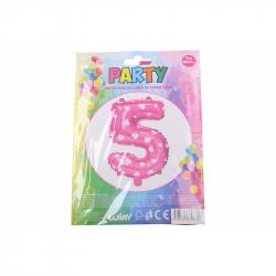nafukovací balónik - číslo 5 holky