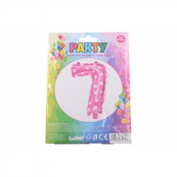 nafukovací balónik - číslo 7 holky