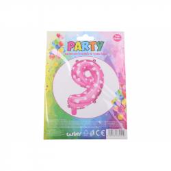 nafukovací balónik - číslo 9 holky