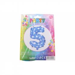 nafukovací balónik - číslo 5 chlapci