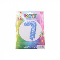 nafukovací balónik - číslo 7 chlapci