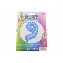 nafukovací balónik - číslo 9 chlapci