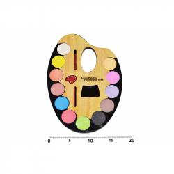 Vodové barvy paleta - 12 barev