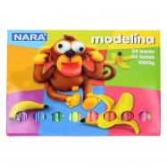 Modelína Nara 24 barev 1000g