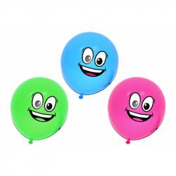 Balónik nafukovacie s tvárou 10 ks