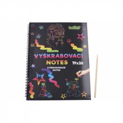 Vyškrabávací notes 26x19cm /10 listů