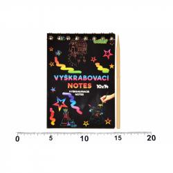 Vyškrabávací notes 14x10cm - 12 listov