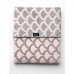 Detská bavlnená deka so vzorom Womar 75x100 ružovo-šedá