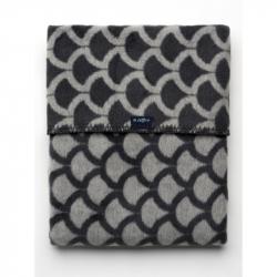 Detská bavlnená deka so vzorom Womar 75x100 šedo-grafitová