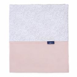 Detská obojstranná deka Velvet Womar 75x100 šedo-lososová