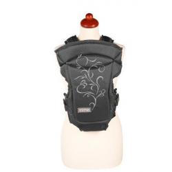 Nosítko Womar Zaffiro Butterfly čierne so sivou výšivkou