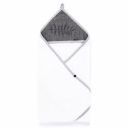 Detská bavlnená osuška Womar 80x80 papradie šedá