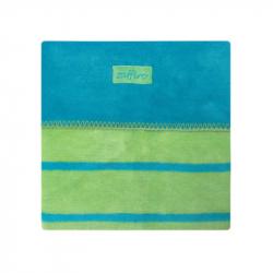 Detská bavlnená deka Womar 75x100 modro-zelená