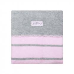 Detská bavlnená deka Womar 75x100 šedo-ružová