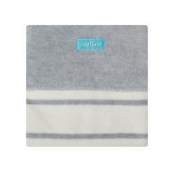 Detská bavlnená deka Womar 75x100 šedo-béžová