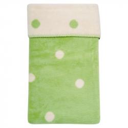 Detská bavlnená deka Womar 75x100 zelená