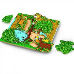 Drevené puzzle Píkabú