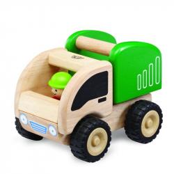 Drevené auto Mini Smetiar