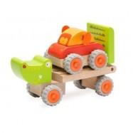 Drevený Mini ťahač Krokodíl
