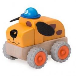 Drevené policajné autíčko pes