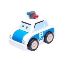 Drevená Mini stavebnica Policajné auto