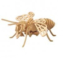 Dřevěné 3D puzzle dřevěná skládačka hmyz - Včela E018